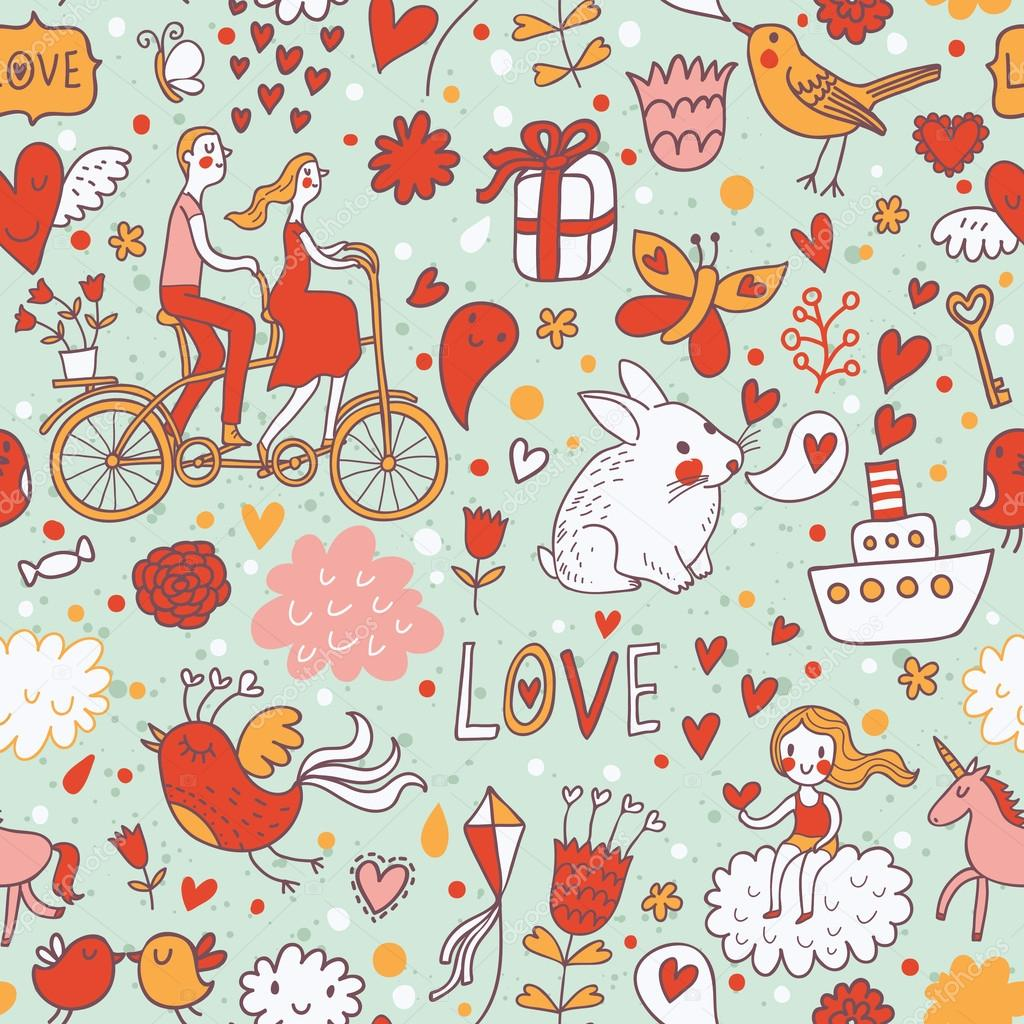 Romantische Nahtlose Muster In Eleganten Farben. Ideale Muster Für Hochzeit  Design. Nahtlose Muster Kann Verwendet Werden, Für Tapeten,  Musterfüllungen, ...
