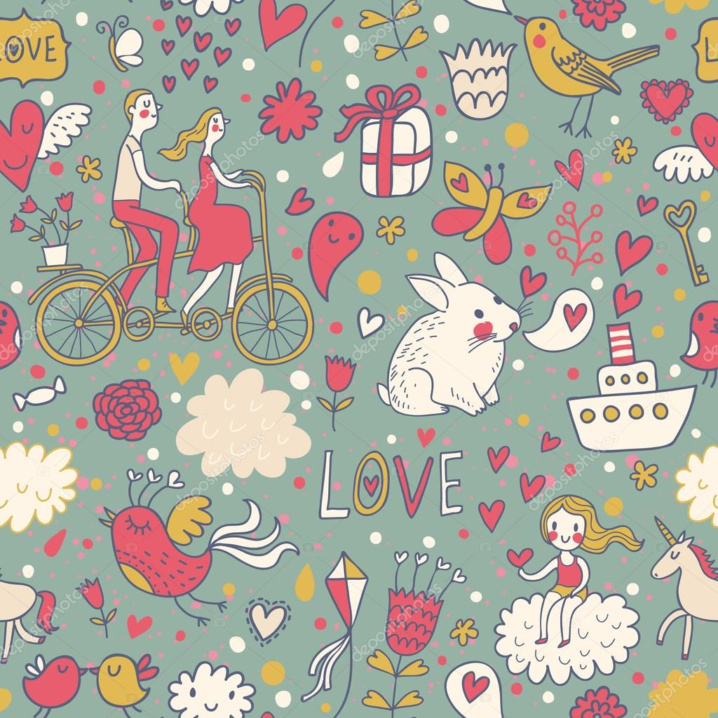 romantic seamless pattern in stylish colors ideal pattern for
