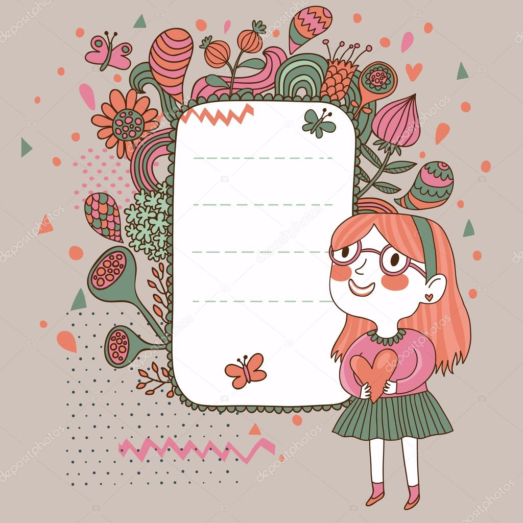 school text box clipart. school background with cute cartoon beautiful girl bright floral a textbox text box clipart x
