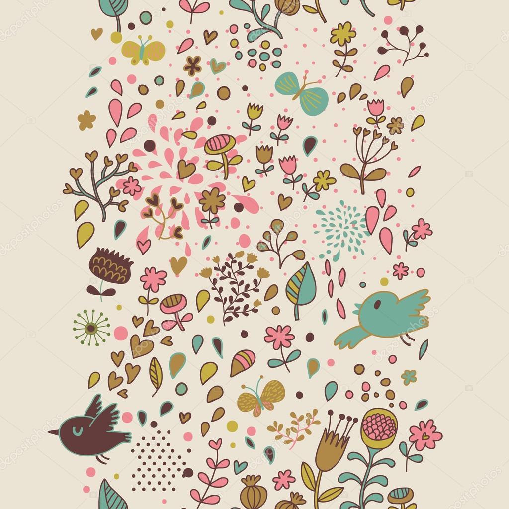 elegante patrón floral transparente en vector. patrones sin fisuras ...