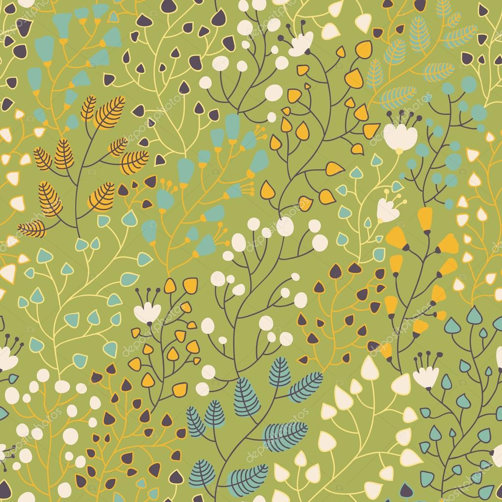 nahtlose Blümchenmuster für schöne moderne Tapeten in stilvollen ...