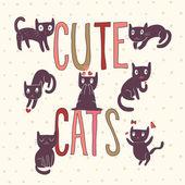 Nette Katzen im Vektor