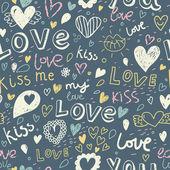romantische nahtlose Muster. Liebe Konzept Hintergrund. nahtloses Muster kann für Tapeten, Musterfüllungen, Webseiten-Hintergrund, Oberflächentexturen verwendet werden.