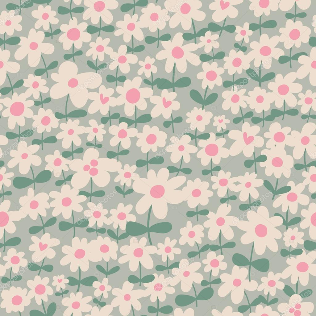 Wallpapers pattern fills web page backgrounds surface textures - Seamless Pattern Can Be Used For Wallpapers Pattern Fills Web Page Backgrounds Surface Textures Simple Seamless Floral Background Vector By