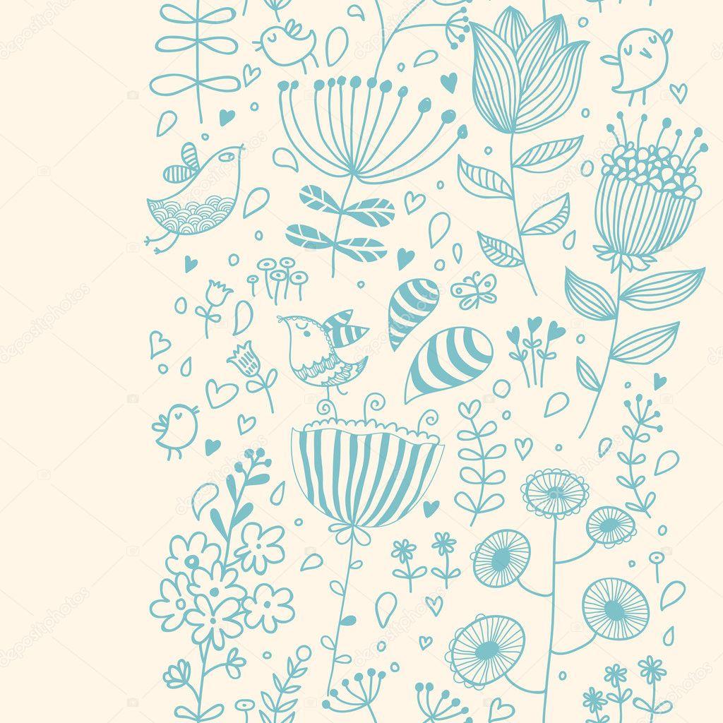 brillante vintage de patrones sin fisuras. tarjeta flores de ...