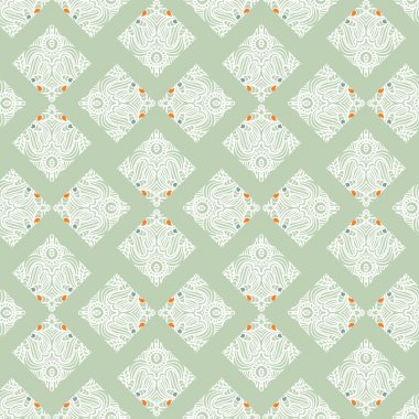 Stylish vintage seamless pattern. Retro ornament. Seamless pattern can be used for wallpapers, pattern fills, web page backgrounds, surface textures.