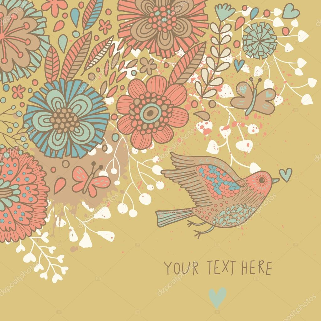 colorful vintage background pastel colored floral wallpaper with