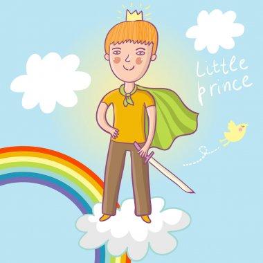Little prince - cute cartoon illustration