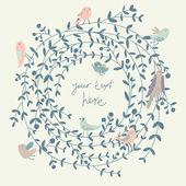 stylové květinové pozadí s ptáky. ročník květinové karta. ideální pro svatební pozvánky