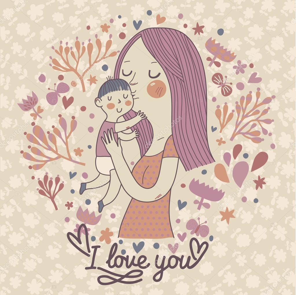 Красивые милые открытки с днем матери