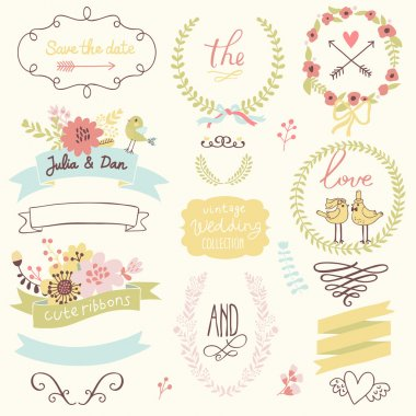Wedding gentle collection with labels