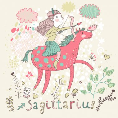 Cute zodiac sign - Sagittarius.