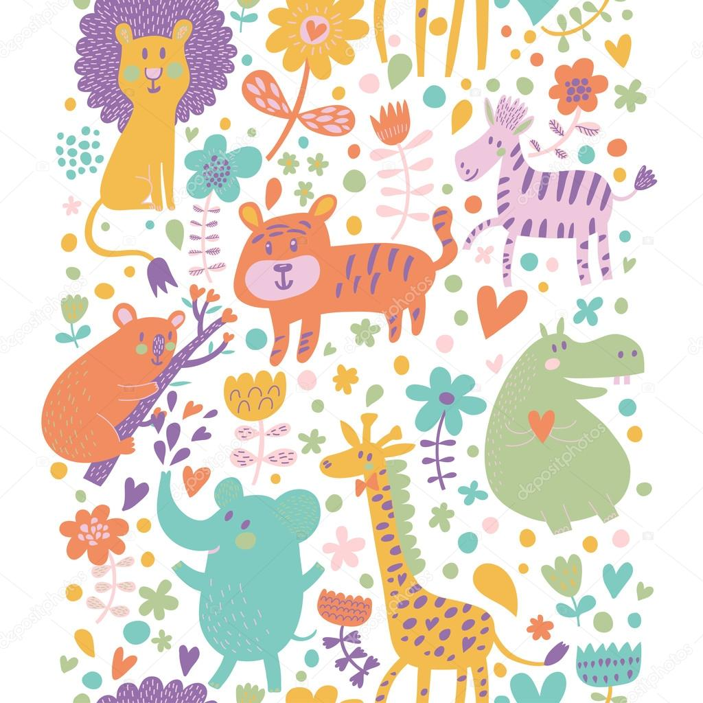 Bright childish seamless pattern