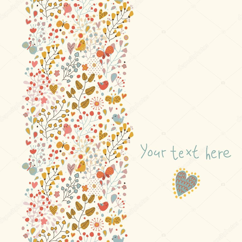 Bright summer floral background made of butterflies
