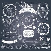 Romantické svatební kolekce s popisky