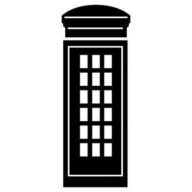 Vector illustration of tipical phone box of London
