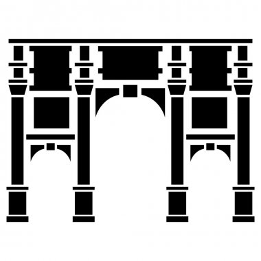 Vector illustration of Marble Arch of London