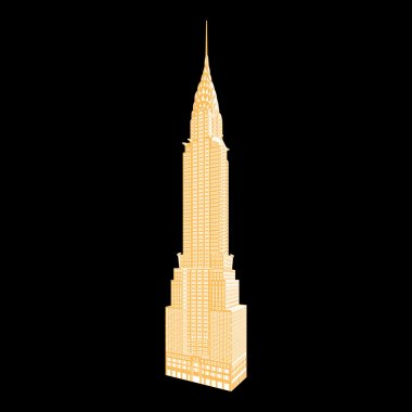 New York famous Empire State Building vector