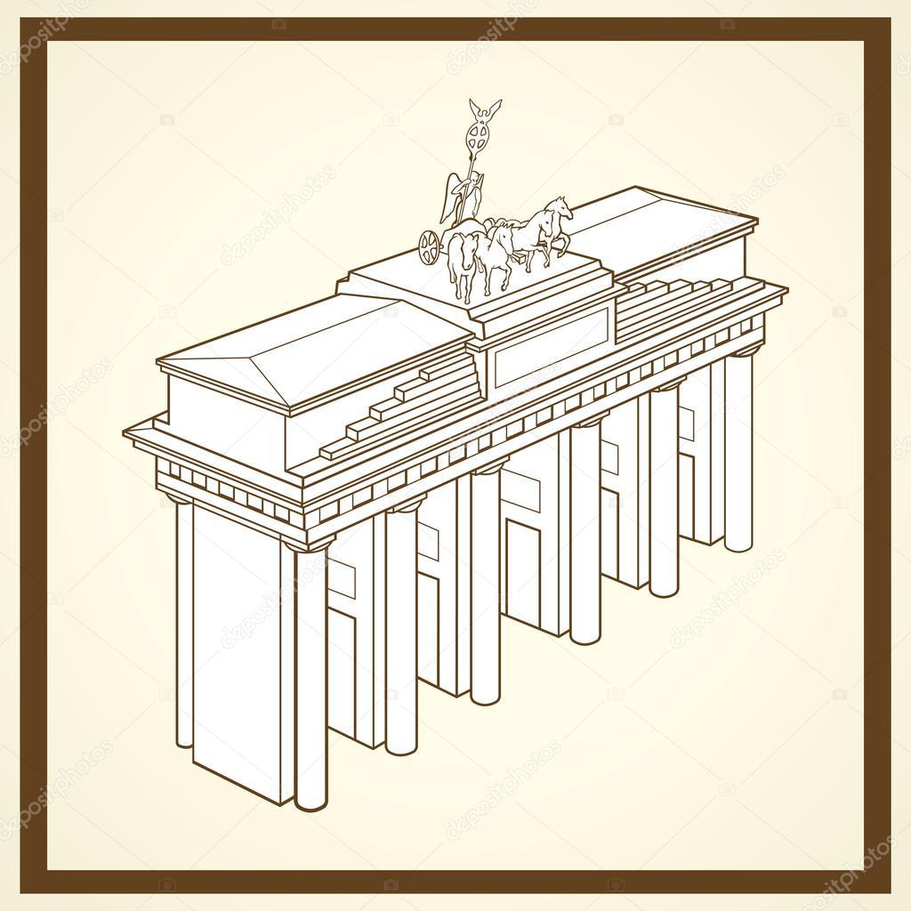 Brandenburger Tor-Postkarte — Stockvektor © nicolarenna4 #46663977