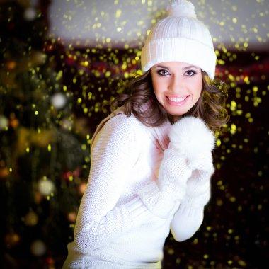 Winter fashion portrait of a beautiful girl