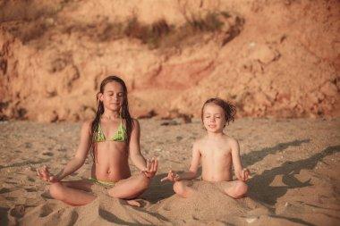 Girls meditating