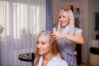 Hairdresser dye hair