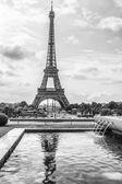 Torre vista eiffel dal trocadero