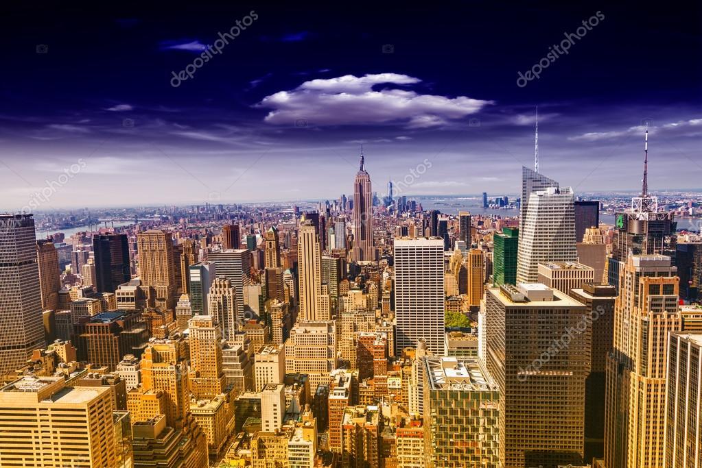 Beautiful View Of New York City Skyline U2014 Stock Photo
