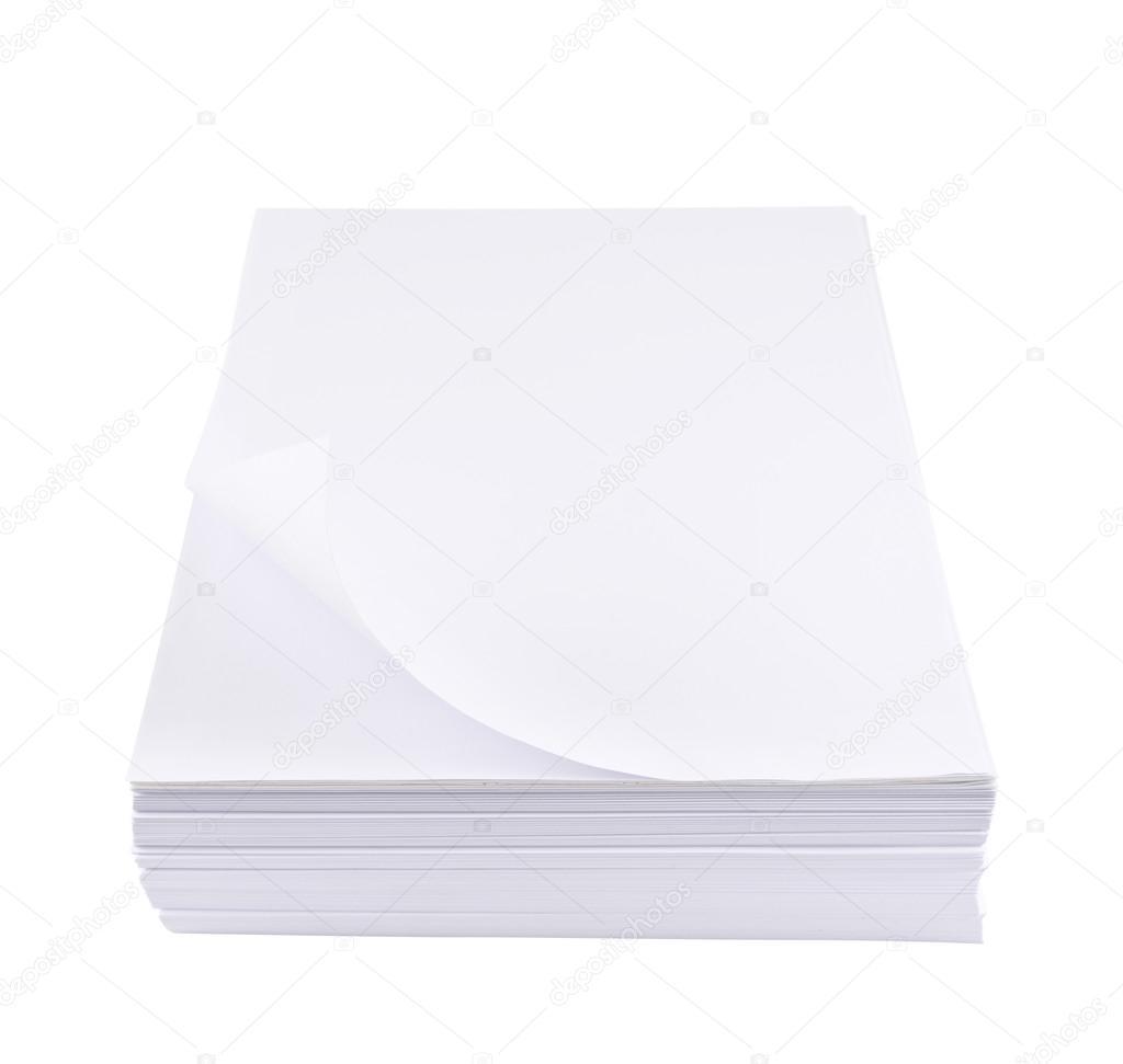 pilha de folha de papel branco de tamanho a4 fotografias de stock