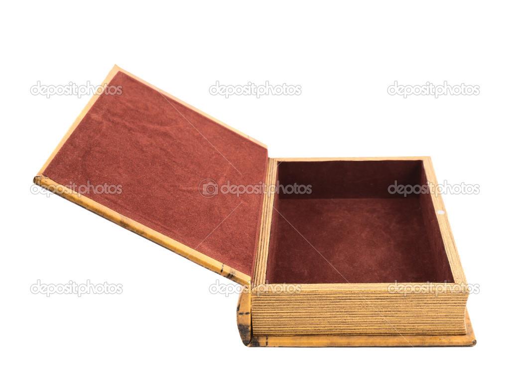 livre en forme de cercueil ou bijoux bo te isol e. Black Bedroom Furniture Sets. Home Design Ideas