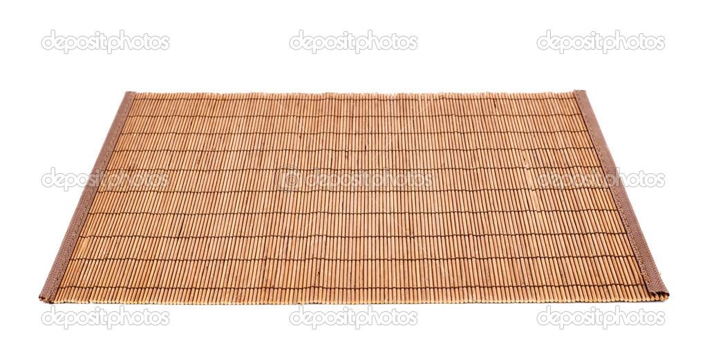 Bambus Strohhalm Servieren Matte Isoliert Stockfoto C Exopixel