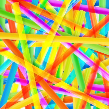 Drinking straw colorful abstract background stock vector