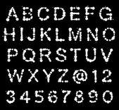 Photo ABC alphabet made of blot spots