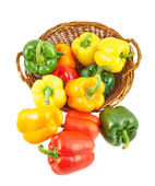 Fotografie Wicker basket full of bell peppers