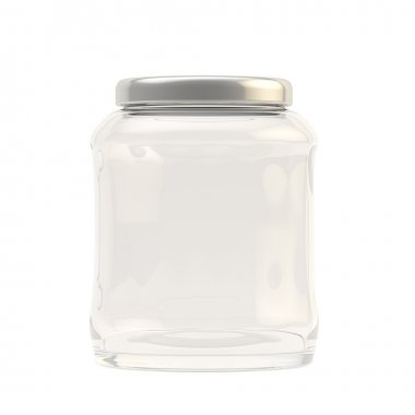 Glass jar covered with a cap