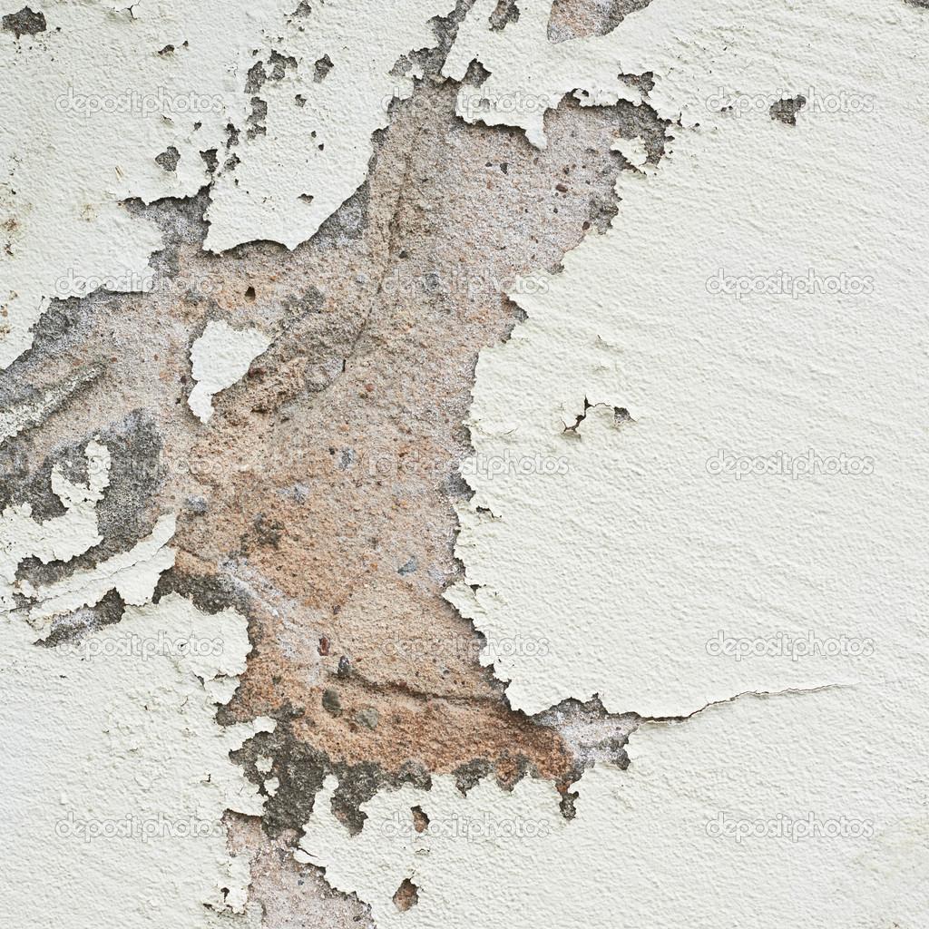 vieux mur avec la chute de lait de chaux — photographie exopixel