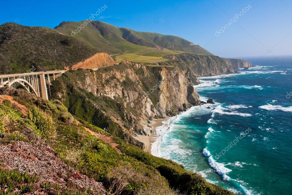 Beautiful Coastline in Big Sur,California