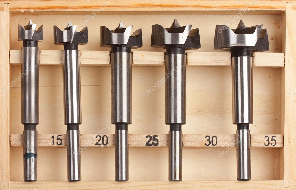Drill bits Forstner — Stock Photo © axesor #24360639