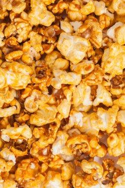 Pop corn texture with caramel