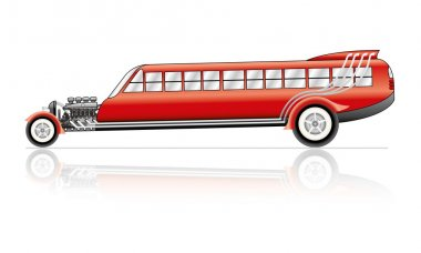 Vector Hot Rod bus