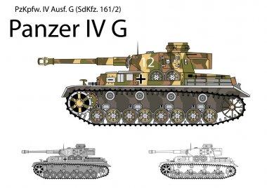 German WW2 Panzer IV G with long 75 mm L48 gun