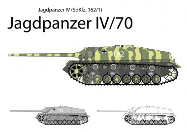 German WW2 Jagdpanzer IV with long 75 mm gun