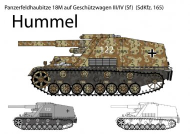 WW2 German Hummel self propelled artillery