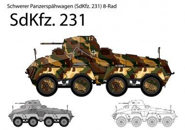 WW2 German SdKfz. 231 armored car