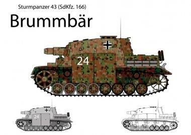 WW2 German Brummbar self propelled heavy assault gun