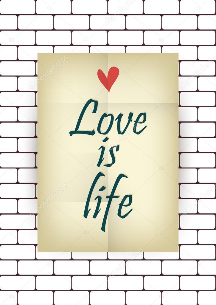 Liebe ist Leben — Stockvektor © annakukhmar #38246165