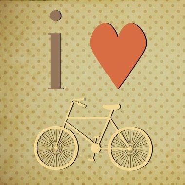 Retro Illustration Bicycle.