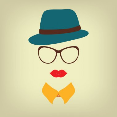 Hipster lady with a hat