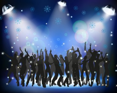 People dancing at a Christmas party