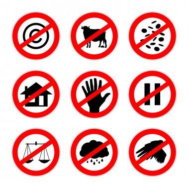 alternative prohibition signs set 2